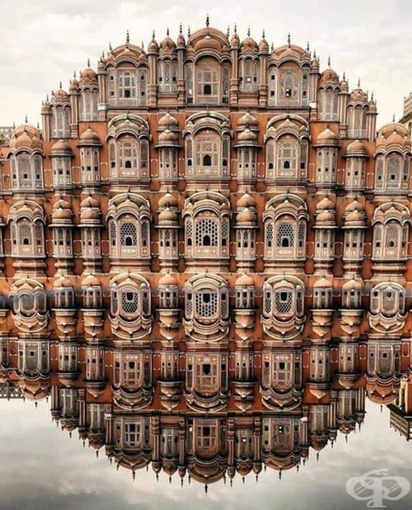Дворецът на ветровете Хава Махал, Джайпур (Индия).