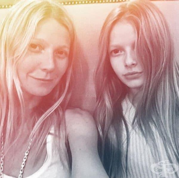 Гуинет Полтроу и дъщеря й Епъл Мартин