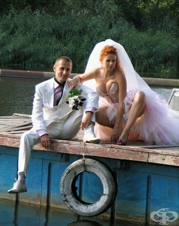 Обикновена сватбена снимка.