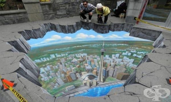 22 креативни шедьовъра на уличното изкуство, които сливат реалност и фантазия в едно