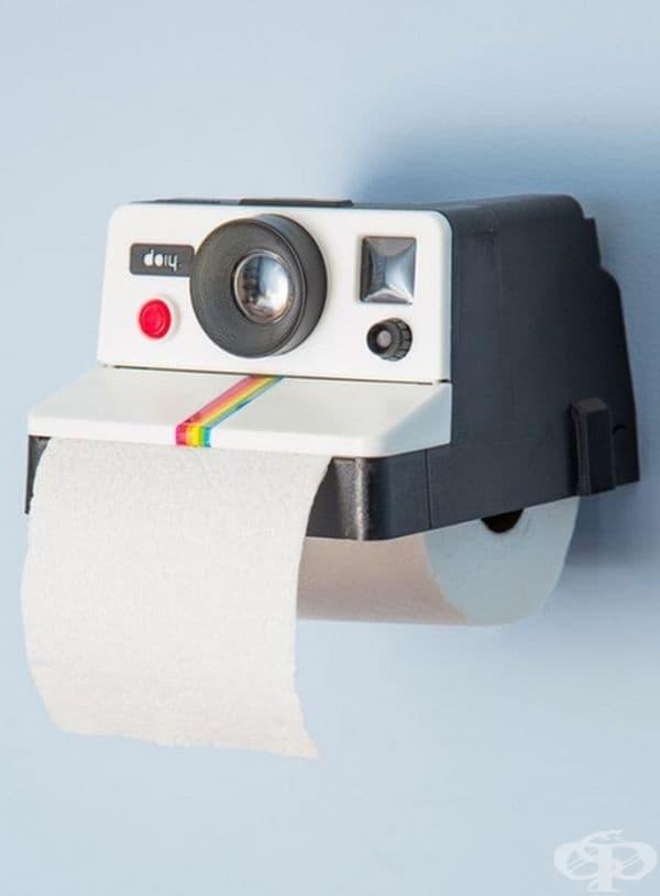 Поставка за тоалетна хартия за онези, които са луди по фотографията.