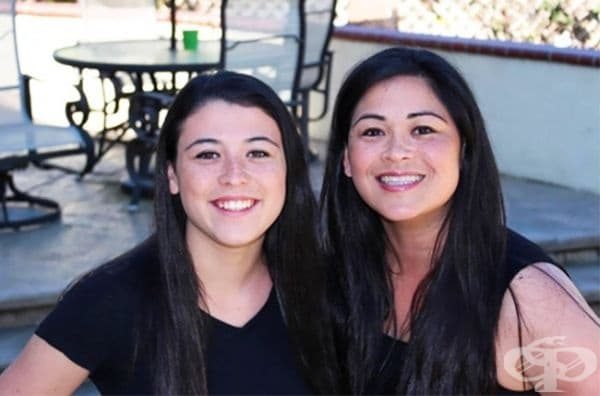 Вижте тези прекрасни дами: майка и дъщеря.