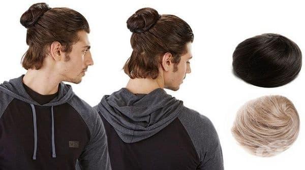Допълнителна коса за кок при мъже.