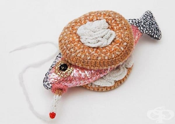 Дизайнер създава плетени морски дарове, които изглеждат много апетитно