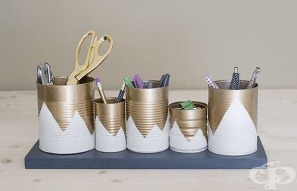 Кутиите от боя са идеални за канцеларски принадлежности.