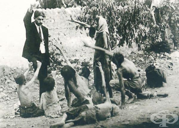Снимка, направена за повишаване на обществената информираност за арменския геноцид.