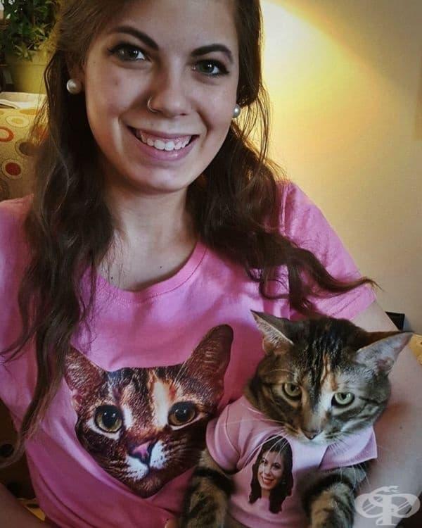 Само погледнете изражението на котката.