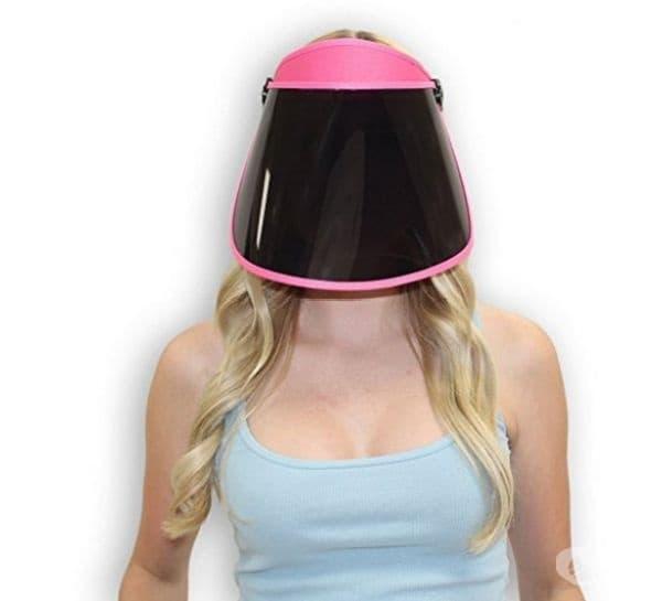 Слънцезащитна маска, която свободно се продава в интернет пространството.