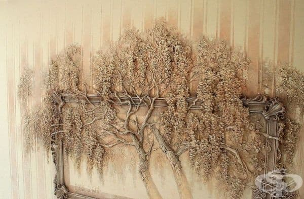 Руски художник използва древна техника, за да превърне стените в изкуство