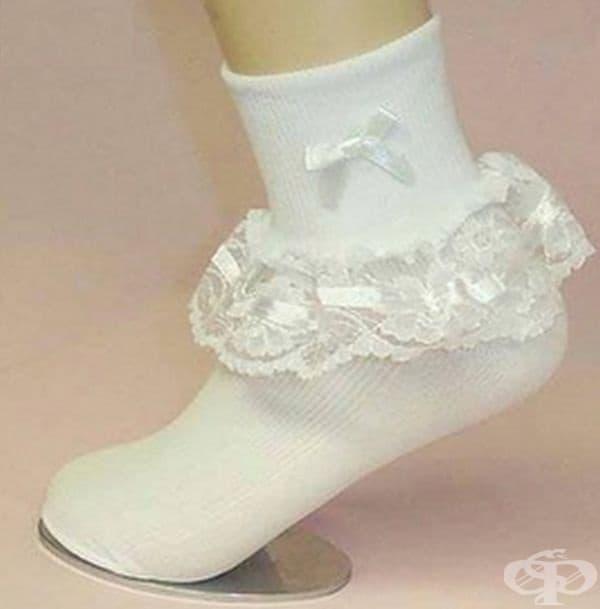 Ето такива бяха елегантните дамски чорапи.