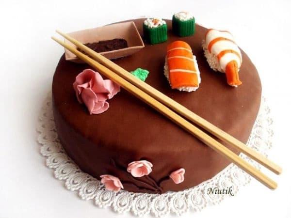 """Торта """"Суши""""."""