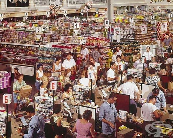 Супермаркетът The Super Giant  в Роквил, Мериленд, 1964 г.