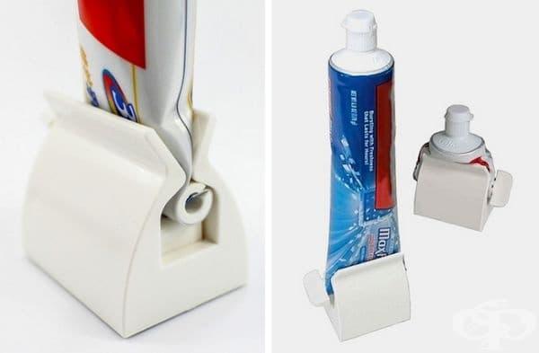 Преса за паста за зъби, която ще извлечете максимума от тубичката.