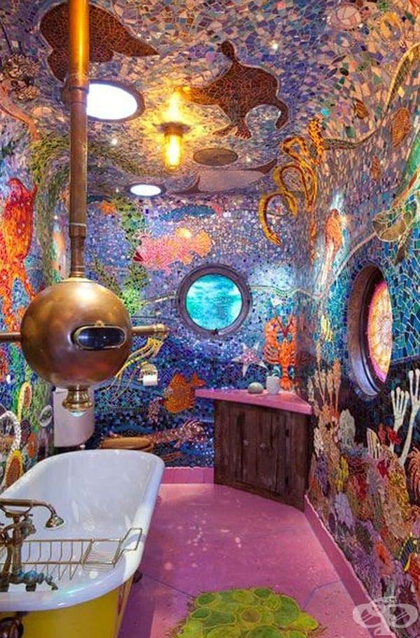 Това не са тоалетни, а бани с интересен интериор, по идея на дизайнера Джания Дейвис.