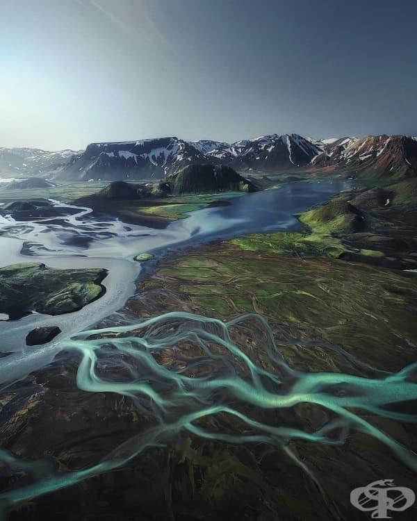 Високопланинските части на Исландия.