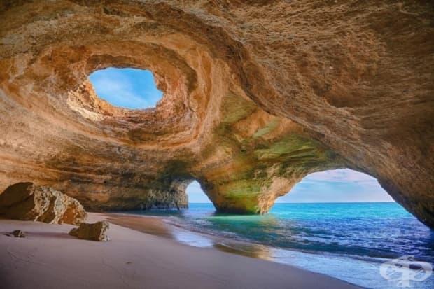 Пещерата Бенагил, Португалия.