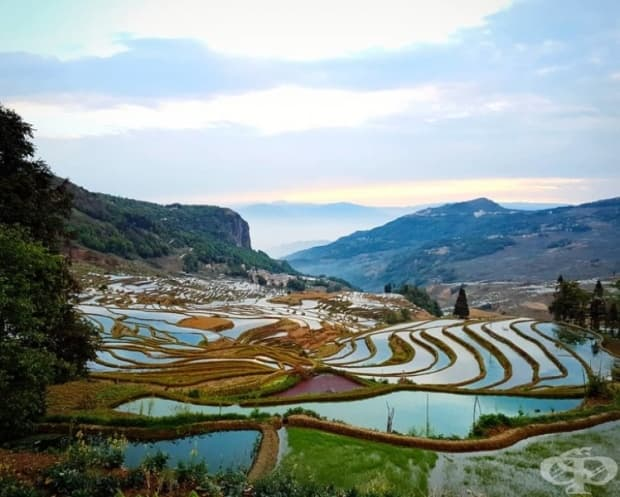 Yuanyang Rice Terraces, Китай.