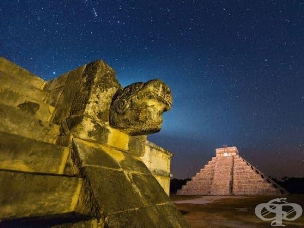 Пирамидата Кукулкан в Чичен Ица. (Снимка: Пол Никлин)