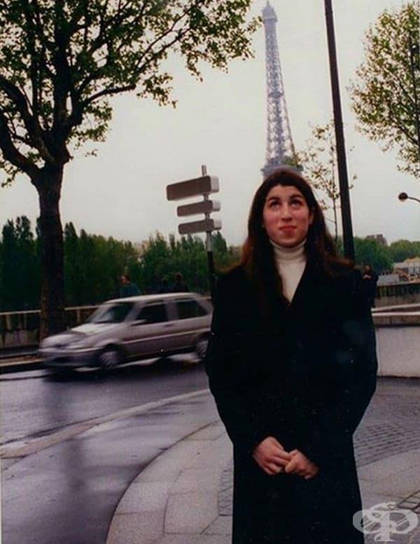 Ейми Уайнхаус в Париж през 90-те.