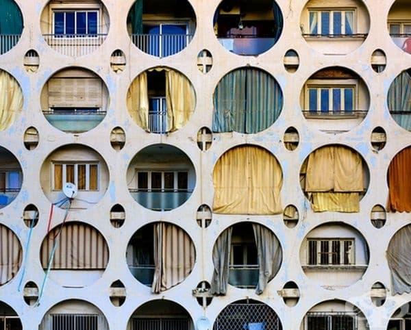 Това е ретро жилищна постройка в Бейрут.