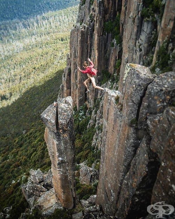Скок от планина в Уелингтън, Австралия.
