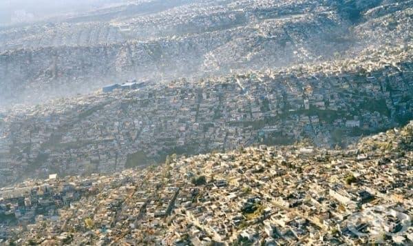 Пренаселено Мексико, снимано от високо.