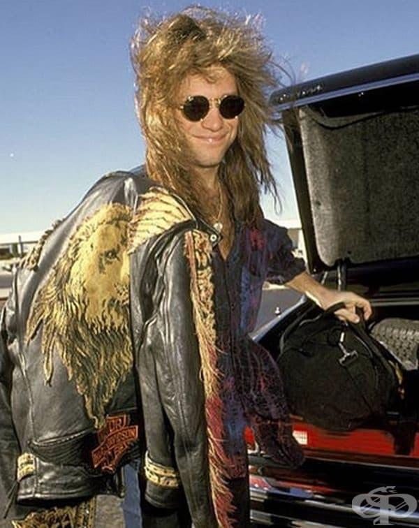 Джон Бон Джови на международното летище в Лос Анджелис през 1991 г.
