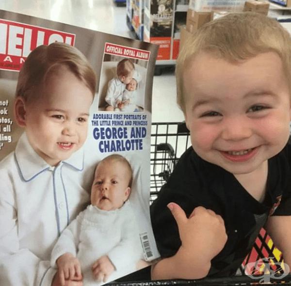 """""""Това вдясно е моят син. Мисля, че си има брат близнак в лицето на кралския син."""""""