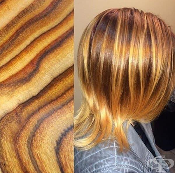 Фризьорка създава картини върху косите на своите модели