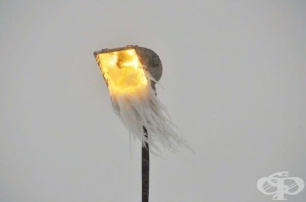 Улична лампа с брада.