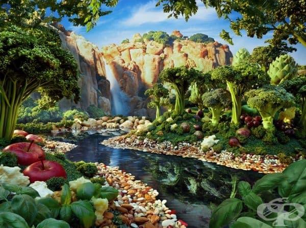Впечатляващи пейзажи от хранителни продукти -част 1