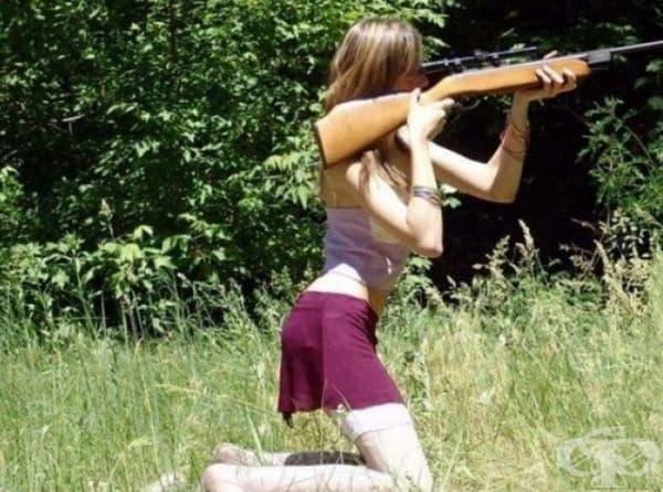 Надяваме се, че тя ще промени мнението си, преди да стреля.