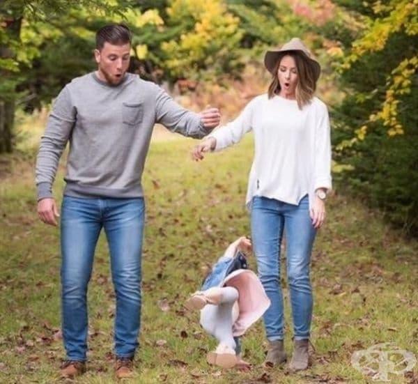 Семейна снимка в точния момент.