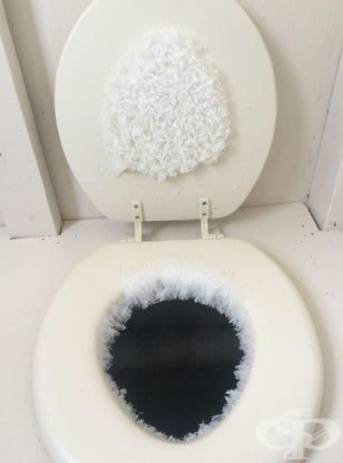 Когато отидеш в тоалетната на Снежната кралица.