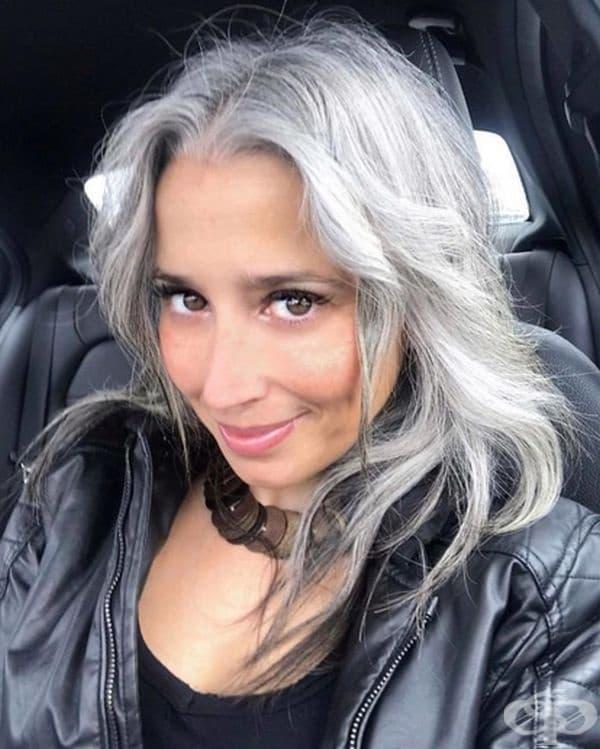 """""""Сивата коса също е секси. Аз се харесвам и че чувствам жива."""""""