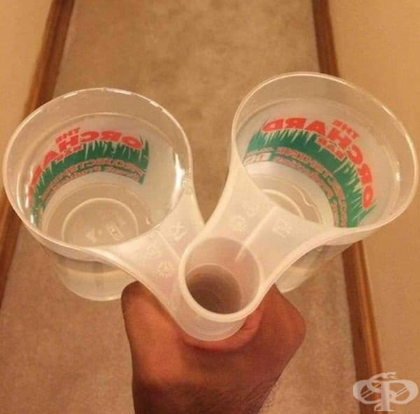 Дръжки на чаши, които позволяват да се носят няколко чаши едновременно.