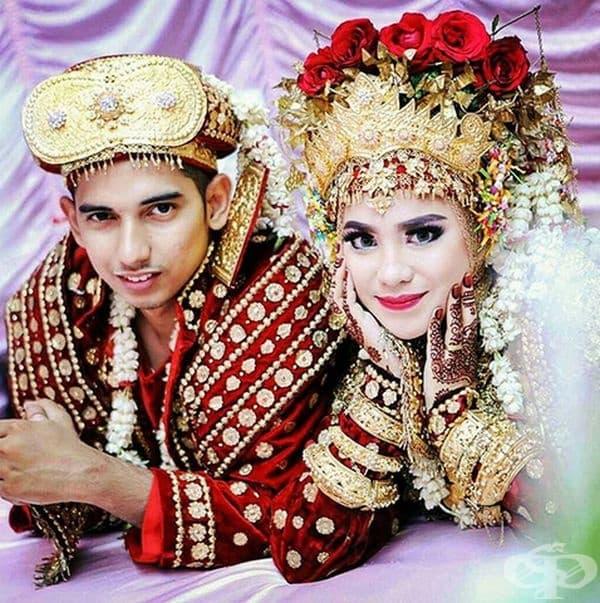 Младоженци от Палембанг, Индонезия