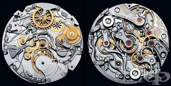 Така изглеждат вътрешните механизми на часовниците, създадени от Patek Phillipe. Той се счита за най-добрия производител на часовници в света.