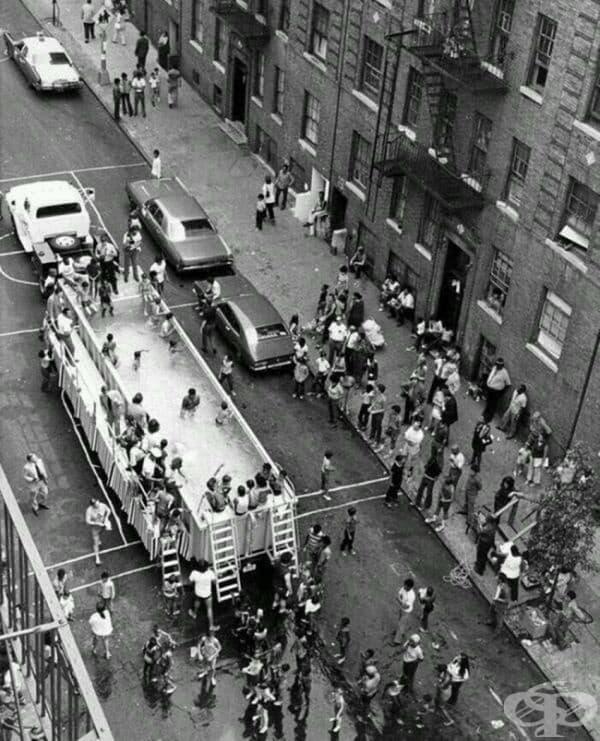 Мобилен плувен басейн в Ню Йорк, 1960г.