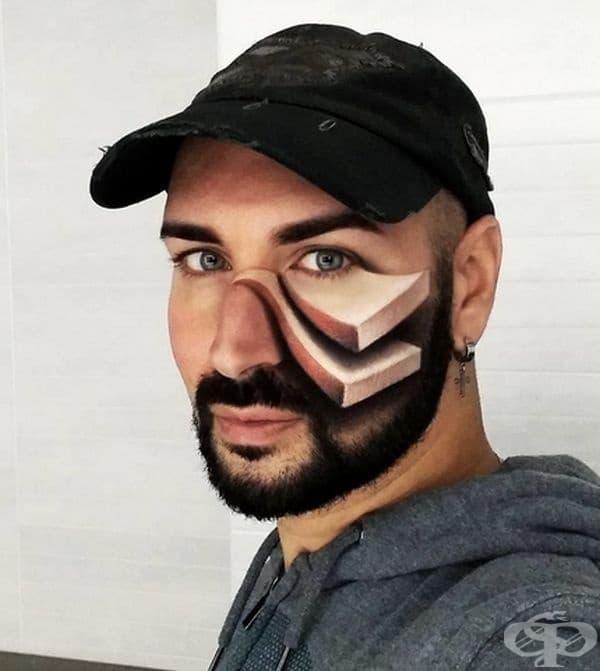30 зашеметяващ 3D оптични илюзии с грим