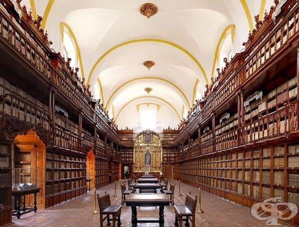 """Библиотека """"Палафоксиана"""", Пуебла, Мексико."""