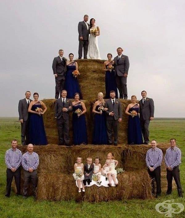 Голяма торта за голяма сватба.