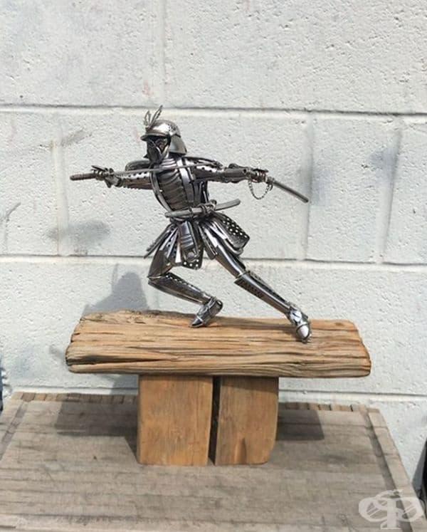 35 невероятни метални скулптури, изработени от стари прибори