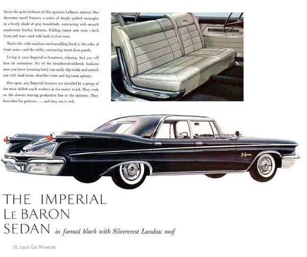Реклама 1960 Imperial LeBaron седан.