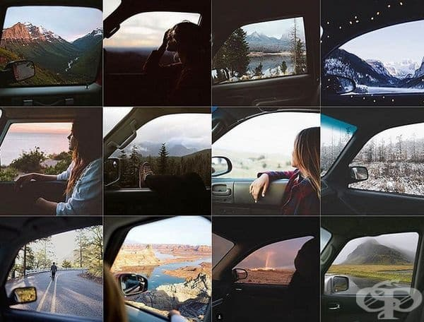 На отворения прозорец на автомобила.