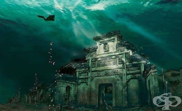 Подводен град в Шиченг, Китай