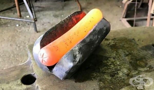 Железен хотдог или хотдог от желязо.