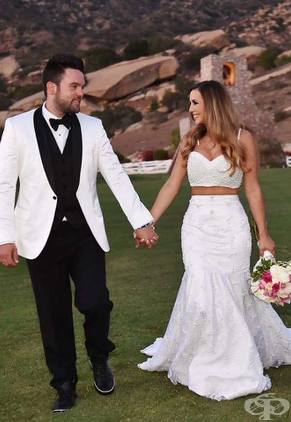 Шана Мари, 2014г. Моделът сама е проектирала сватбената си рокля. Тя се омъжва за Майкъл Шийн.