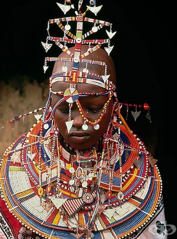 Булка от племето масаи, Кения