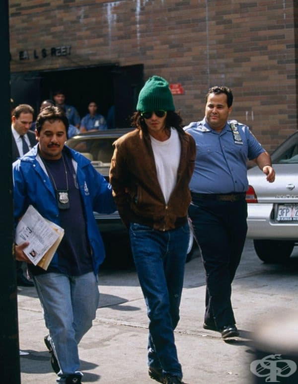 Джони Деп - арестуван в Ню Йорк през 1994 г.